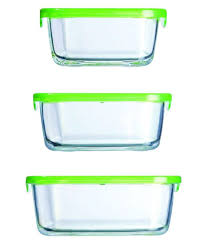 luminarc keep n box square set of 3pcs glass food container set of 3