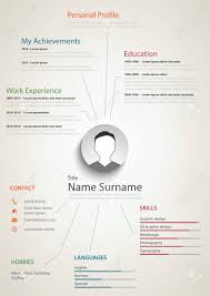 Professional Retro Resume Cv With Background Links Vector Eps