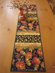 Thanksgiving Table Runner, Fall Harvest Quilted Table Runner, Fall ... & Fall Pumpkins Quilted Table Runner Fall Decorating by patchworkmountain.com: Adamdwight.com