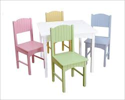 nantucket pastel kids table and chair set by kidkraft furniture