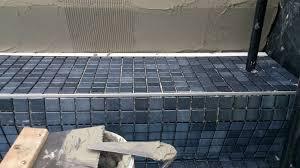 mosaic glass tiles work in progress