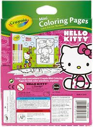 Hello kitty is in the 3rd grade and likes to learn about the world. Amazon Com Crayola Hello Kitty Mini Coloring Pages Markers 86 Piece Set Art Gift For Kids 3 Up Washable Non Toxic Markers Mini Coloring Book Pages Feature Favorite Hello Kitty Characters Great