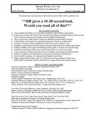 Example Of A Nursing Resume