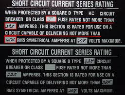 Square D Series Rating Chart Available Fault Current