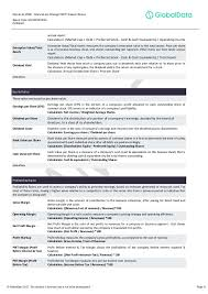 sample pentair plc pnr financial and strategic swot analysis rev  other items are from latest 31