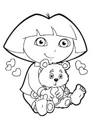 Free Dora Colouring Pages Trustbanksurinamecom