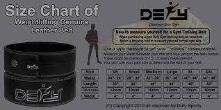 10mm Size Chart Defy Lever Belt 100 Cowhide Genuine Leather 10mm Gym Training Power Lifting Men Women Weightlifting Belt Black