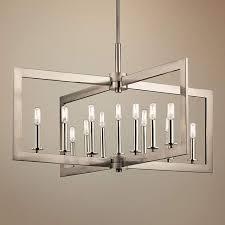 kichler cullen 38 3 4 w pewter 13 light linear chandelier