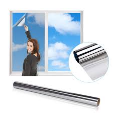 Itrunk Spiegelfolie Reflektierende Fensterfolie Einweg Spiegelfolie Für Fenster Sichtschutz Statische Haftfolie Wärmeschutzfolie