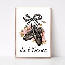 just dance print ballet shoes a4 wall