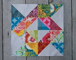 1051 best Cool Quilt Patterns images on Pinterest | Bedspreads ... & I'm on a half-square-triangle kick right now. Blockade Block by Faith of  Fresh Lemon Quilts Adamdwight.com