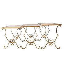brass and metal furniture. FRENCH NEST OF GILT METAL TABLES Brass And Metal Furniture E