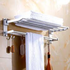 wall towel storage. Brilliant Storage LARGE DOUBLE SHELF WALL MOUNTED BAR BATHROOM BATH TOWEL RAIL STORAGE HOLDER  RACK Intended Wall Towel Storage