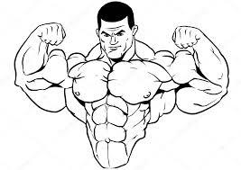 Gespierd Torso Bodybuilder Stockfoto Orrlov 75867917
