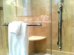 shower door towel rack bar for glass sterling a97
