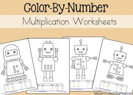 Multiplying fractions color by number math. Multiplication Color By Number Worksheets Mamas Learning Corner