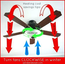 what direction should a ceiling fan turn in the winter