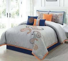 burnt orange and brown comforter sets and orange bedding solid orange comforter orange and turquoise bedding