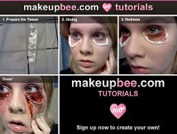 makeup diy how to use liquid latex tissue and eyeshadow to create saggy stretchy eye skin