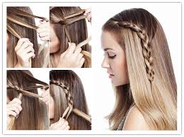 How To Make Cool Hairstyle how to make beautiful one sided braid hair style step by step diy 2329 by stevesalt.us