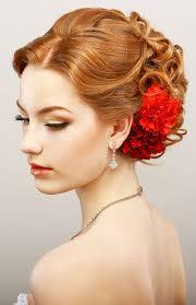 Elegante Lockige Hochsteckfrisur Mit Rot Gef Rbten Haaren Rote Haare