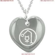 archangel raphael sigil magic planet energy amulet puffy heart pendant necklace kgiasonb