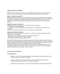Career Objective For Resume Example Of Career Objective For Resume 98