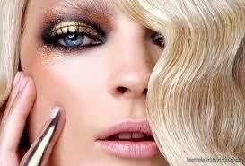 70s gold makeup beauty fzl99
