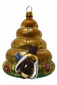 Christbaumschmuck Aus Glas Bienenkorb