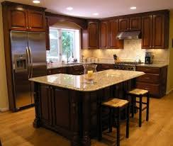 L Shaped Kitchen With Island Flooring