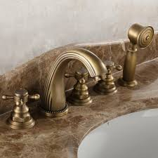 2019 luxury antique waterfall bathtub faucet bathroom bath tub mixer taps with hand set bathub basin faucet from eimin 105 33 dhgate com