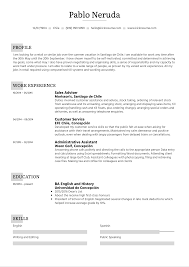 Recent college graduate with a b.a. Student Resume Summer Job Kickresume