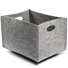 canvas of felt storage bins offering stylish storage for your home