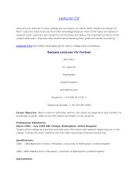 resume - Fresher Lecturer Resume