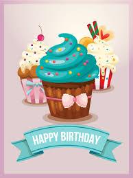 Cute Birthday Cupcake Card Birthday Greeting Cards By Davia