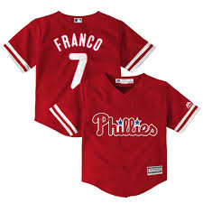 Toddler Philadelphia Phillies Maikel Franco Majestic Fashion Red Official  Cool Base Player Jersey