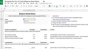 Ratios In Balance Sheet The 15 Credit Ratios Every Investor Should Know