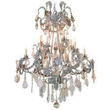 impressive custom rose quartz and crystal chandelier