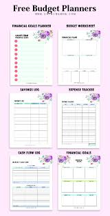 Budget Planners Free Budget Template Binder 25 Free Financial Worksheets