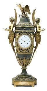 um image for small vintage desk clock gorgeous an empire ormolu and patinated bronze mantel clock