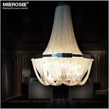 french empire chain chandelier light fixture long chain hanging suspension re lamp aluminum chain light for restaurant black pendant lights round