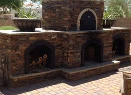 pizza oven smoker combo outdoor fireplace