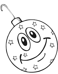 Small Picture Christmas Ornament Coloring Page Smiling Ornament