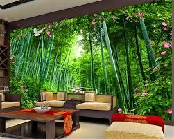 Beibehang Custom Behang Bamboe Houten Brug Rose Tuin Ruimte
