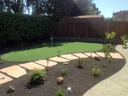 fake grass carpet lancaster california diy putting green backyard makeover