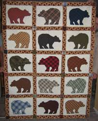 bear quilt- use different bear silhouettes and alternate with log ... & bear quilt- use different bear silhouettes and alternate with log cabin  squares. Add in Adamdwight.com