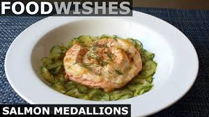 Form into 4 to 6 oval patties, and then make lines across the patties to give them a steak appearance. Food Wishes Video Recipes Salmon Medallions Turning Tail