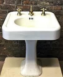 vintage pedestal sink. Contemporary Vintage Antique Vintage C1927 Standard White Porcelain Over Cast Iron Pedestal Sink Throughout