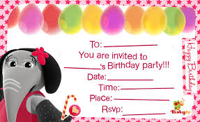 Invitations Card For Birthday Babytv Birthday Invitations