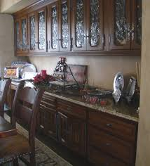 Image Plant Leaded Glass Display With Linen Fold Credenza Doors Wood Gem Custom Cabinets Kitchens Wood Gem Custom Cabinets